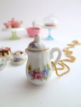 SALE - Tea Party Teapot necklace alice in wonde... - $8.99