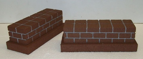 SHORT BRIDGE PIERS/Pillars/Diorama Supplies / Model Railroad G gauge - Set of 2