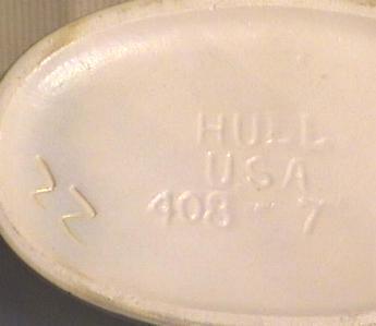 """Hull Matte """"Iris"""" Basket  Ca. 1940s"""