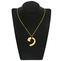 Black bule white zircon Earrings Necklace Sets Gold Color  stainless steel Jewel image 5