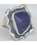 Blue hand made ring BHM 48 - $36.00
