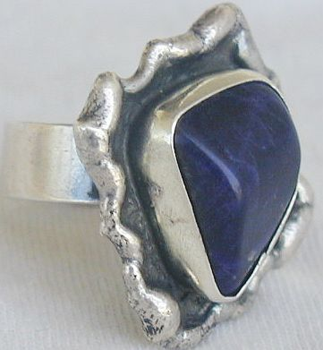 Blue hand made ring BHM 48