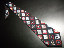 Nicole Miller Neck Tie Hand Sewn 1995 Weather Season Symbols Icons Silk ... - $11.99