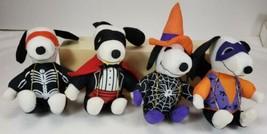 Whitman's Candy SNOOPY HALLOWEEN Plush Toys Vampire Skeleton Spider & ot... - $24.99