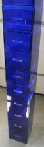 "Acrylic drawered unit - 72""H x 12"" sq in custom blue Lucite - custom siz... - $675.00"