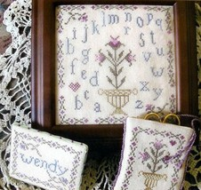 Vintage Lilies Needlework Tools cross stitch chart From The Heart  - $7.20