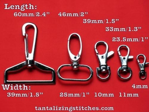 """5 2.4"""" Long Nickel Hooks - 1.5"""" Wide"""