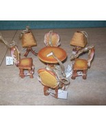 Cattleman's Ranch Faux Deer Antler Table Chairs Lamp Cabin Lodge Ornaments - $48.95
