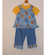 Girls 3 piece handmade pants set with Winnie th... - $22.00