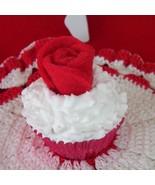 Cupcake Red White fake faux mini - $4.00
