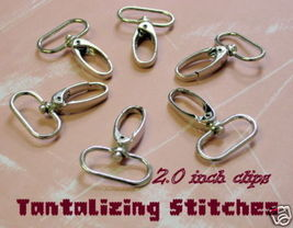 240 Nickel 2.0 Inch Extra Large Lobster Swivel Clasps - $117.79