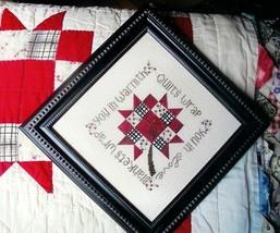 Grandma's Quilt Block cross stitch chart From The Heart  - $7.20