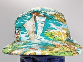 Puma Floral Hawaiian Islander Sailing Skater 5 Panel Hat Cap Adjustable - £20.97 GBP