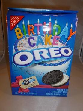 Primary image for 	 Birthday Cake Oreo Chocolate Cookies 100th Anniversary Limited Edition 10.5 oz