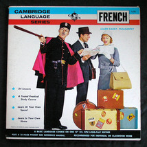 Learn FRENCH  1960's Cambridge Language Series 2 LPs - $5.00