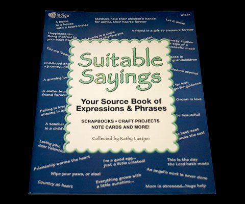 Suitable Sayings Resource Book for Expressions and Phrases