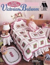 Fashion Doll Victorian Bedroom Crochet Barbie™ Afghan Lampshade Sham Hea... - $15.79