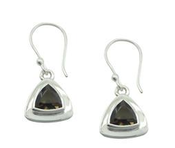 pulchritudinous Smoky Quartz 925 Sterling Silver Brown Natural gemstone ... - $14.37