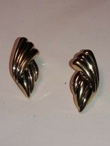 Vintage Gold Tone Signed Monet  Gold Posts Earrings  - $9.89