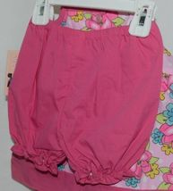 Mon Petit Pink Flowered Babydoll Top Bloomers Elastic Headband 24 month Size image 3