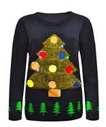 Momo&Ayat Fashions Ladies 3D Christmas Tree with Flashing Lights UK Size... - $22.81