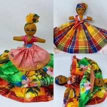 "Rima Fabric Topsy Turvy Caribbean Reversible Doll 12"" Colorful Jeweled S... - $14.36"