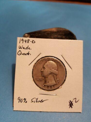 1948- D Washington Quarter Better Date 90% Silver!!! LOOK!!!