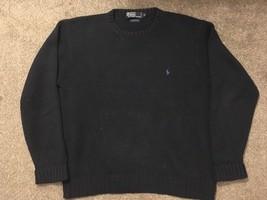 Vintage Polo Ralph Lauren Mens Blue Cotton Crew Neck Sweater, Size M - $29.99