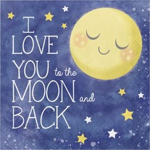 I love you to the Moon and Back 16 Luncheon Napkins Baby Shower Party - £3.34 GBP