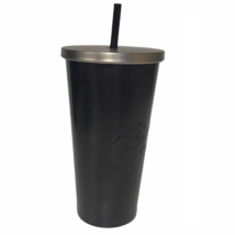 Starbucks 24 Oz. Stainless Steel Cold Cup Tumbler Matte Black Embossed S... - $34.52