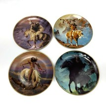 Franklin Mint Western Heritage Spirit Of The Skies Decorative Plates Set of 4  - $29.99