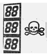 SKULL & CROSS BONES BLACK 88 DECAL SETS MAKE YOUR OWN DE. JR TEST CAR 1/... - $2.95