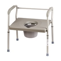 DMI Bedside Commode Chair, 500 lb Capacity Heavy-Duty Steel Commode Toil... - $93.72