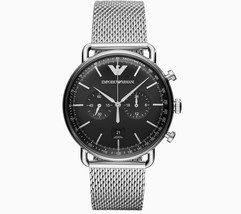 Emporio Armani Dress Silver Stainless-Steel Quartz Men's Watch AR11104 - £113.45 GBP