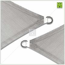 ColourTree 16' x 16' x 22.6' Right Triangle Grey Sun Shade Sail Canopy Awning Su image 3