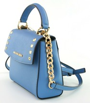 Michael Kors Cross Body Bag Karla Leather Small Handbag French Blue RRP £200 image 2