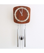 JUNGHANS Vintage Wall Clock Chrome Rare LOUDSPEAKER Chime! SPECIAL 1960s... - $575.00