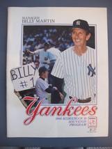 NEW YORK YANKEES 1988 SCOREBOOK & SOUVENIR PROGRAM BILLY MARTIN COVER - $5.93