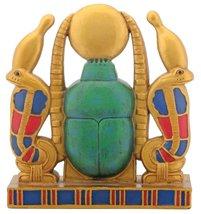 Gold Cobra Sun Scarab Egyptian Collectible Display Statue - $19.95