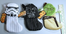 Star Wars Mini Stockings Lot of 3 Christmas Licensed Darth Vader Yoda Di... - €13,10 EUR