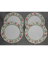Set (4) Wedgwood ENGLISH COTTAGE ROSE PATTERN Dinner Plates MADE IN GERMANY - $148.49