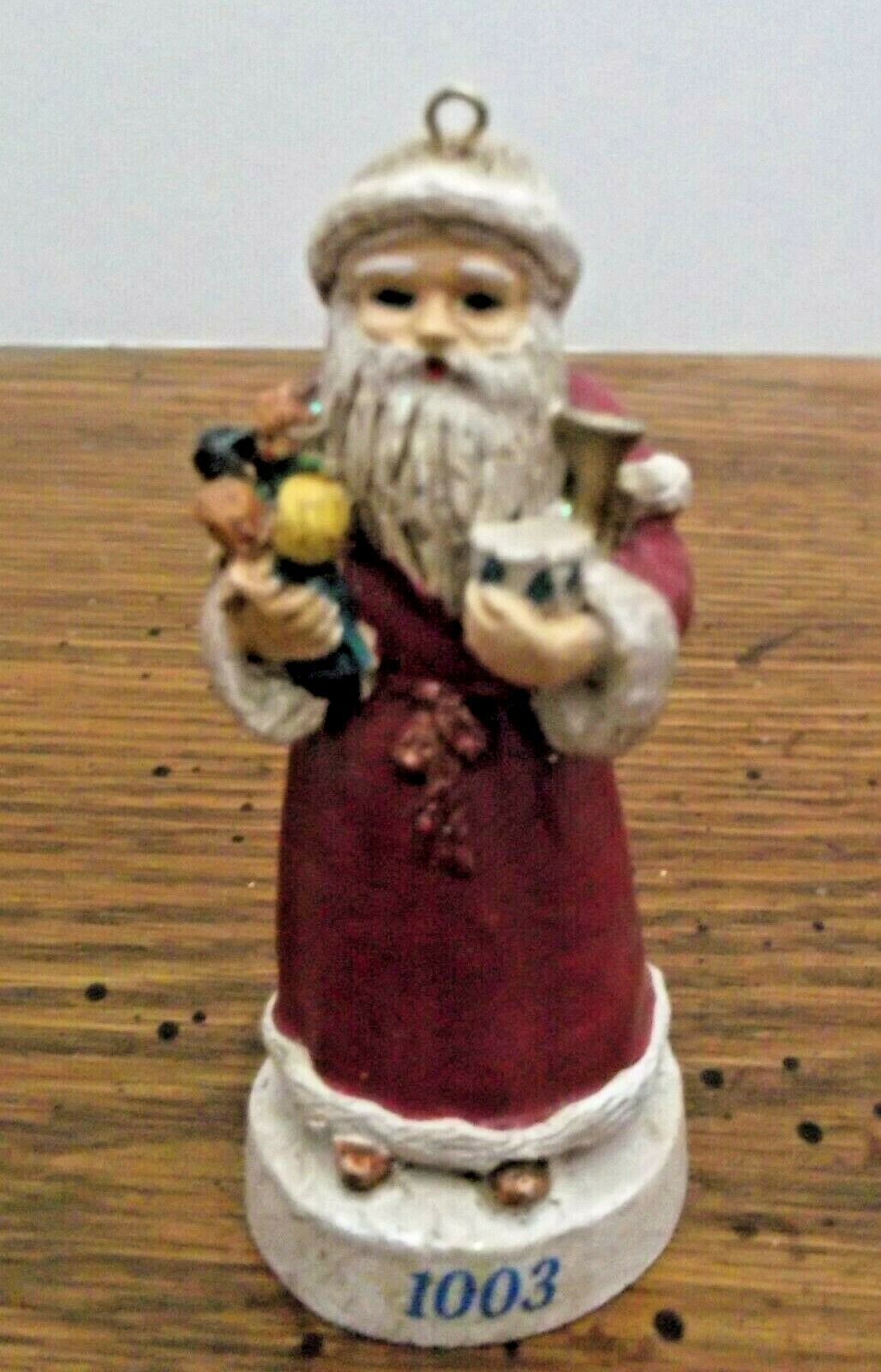 Russ Berrie Old World Santa Ornament Figurine Through The Ages 1003  - $6.92