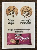 1973 Hershey's Mini Chips Print Ad More Chocolate Chips to the Bite - $8.95
