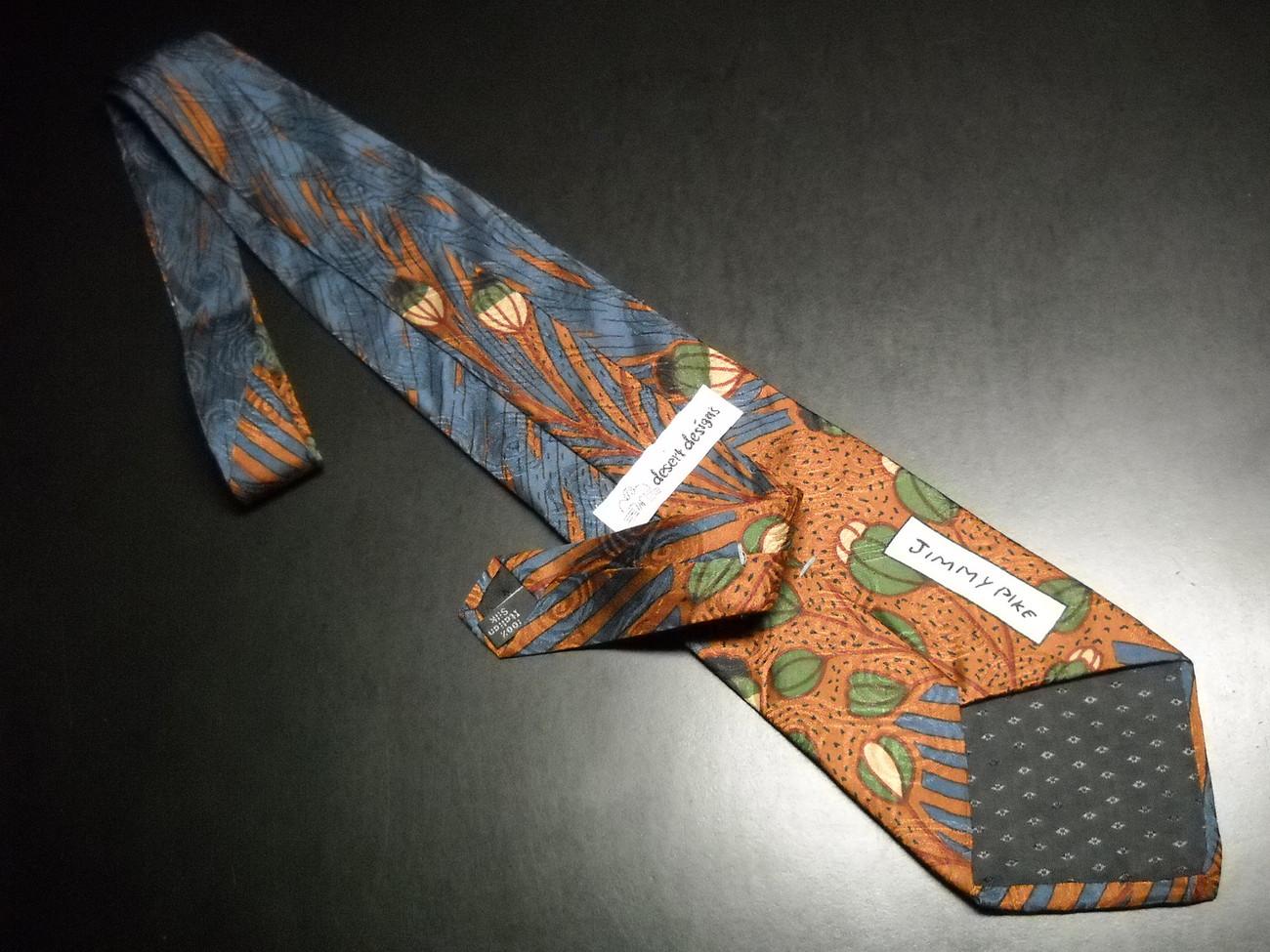 Desert Designs Neck Tie Italian Silk Jimmy Pike Design Silk