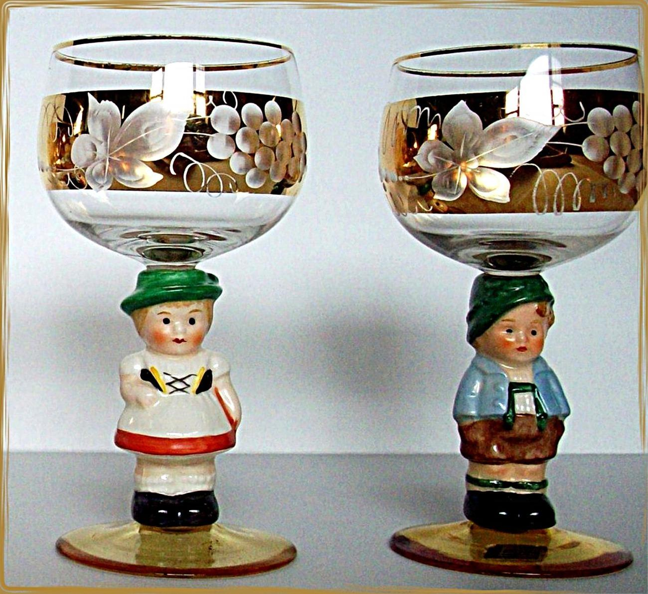 Hummel_goebel_bavarian_couple_wine_glasses