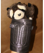 """Folkmanis 11"""" RACCOON IN GARBAGE CAN PUPPET CUTE TOY - $15.99"""