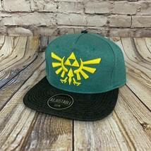 New Legend Of Zelda - Bioworld Green & Black Nintendo Snapback Cap Hat O... - $11.83