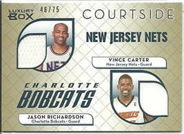 2007-08 Topps Luxury Box Courtside Dual Relics Gold #CR Carter/Richardson - $9.99