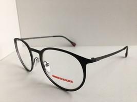 New PRADA Sport VPS 50H VPS50H DG0-1O1 Round 50mm Black Eyeglasses Frame Italy - $105.79