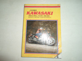 1981 1985 Clymer Kawasaki 1000 & 1100cc Fours Service Wartungshandbuch Stained - $29.64